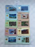 = LOT 456 - TAIWAN - 10 CARTELE TELEFONICE DIFERITE =