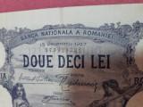 Bancnote romanesti 20lei 1927 vfplus