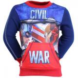 Bluza trening baieti Civil War albastra cu rosu