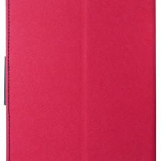 "Husa tip carte Mercury Goospery Fancy Diary rosu + bleumarin pentru Samsung Galaxy Tab 4 (SM-T230), Tab 4 LTE (SM-T235) 7"""