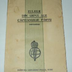 Zilele din urma ale capitanului Parvu, Ion Agarbiceanu, 1921
