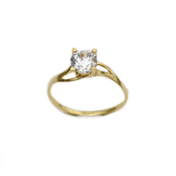 Inel de logodna aur galben cu zirconiu - DA262