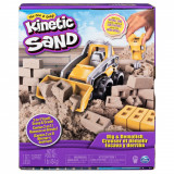 Set de joaca Kinetic Sand - Utilaj de constructie si nisip 454 g