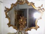 Oglinda baroc/rococo/Louis,vintage,rama lemn,Italia,101/128 cm, 1900 - 1949