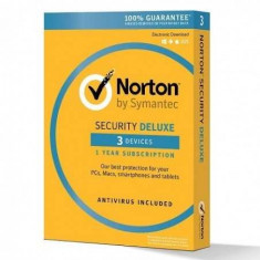 Norton Security Deluxe, 1 an, licenta electronica