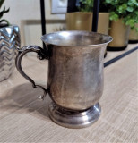 Cana argint masiv