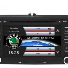 Navigatie Gps Skoda Octavia 2 Fabia Superb 2 Roomster Yeti , Windows 6.0 , Dvd Player , Usb , Bluetooth , Card 8GB Europa full