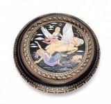 Caseta de bijuterii 10cm, cu Foita de Aur de 24k, Lucrata Manual Cod Produs 522