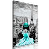 Tablou canvas - Culoare Paris verde - 60 x 90 cm, Artgeist