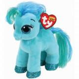 Jucarie de plus Beanie Boos TOPAZ - teal pony/ponei turcoise, 15cm, TY 36666