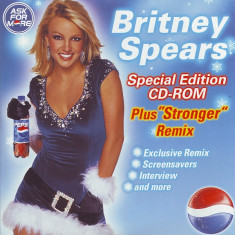 "CD Britney Spears ‎– Special Edition CD-Rom (Plus ""Stronger"" Remix) , original"