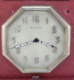Ceas Calatorire/Birou,8zile,Cutie piele,anii '20 IWC,Longines ,Omega,