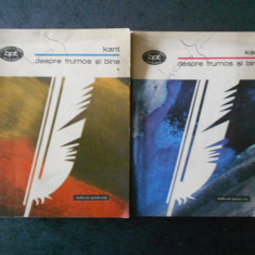 IMMANUE; KANT - DESPRE FRUMOS SI BINE 2 volume
