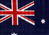 Steguleţ Australia, din pânză 46 x 31 cm cu catarg lemn 62 cm