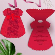 Invitatie botez model rochita OPIS029