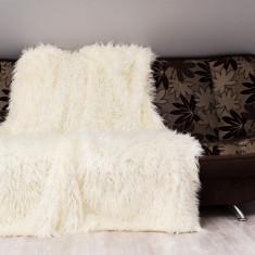 Set 3 buc Cuvertură pat Ecri alpaca 150/200 + 2 x 60x150cm , blana sintetica