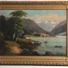 Vand doua tablouri vechi dimensiune mare pereche unul este semnat rame stare foarte buna