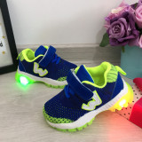 Cumpara ieftin Adidasi colorati albastri verzi cu lumini LED beculete pt baieti 21
