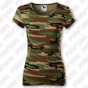 Tricou de damă model Camuflaj cambrat