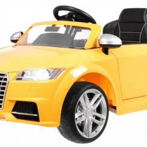 Masinuta electrica Audi TT RS, galben metalizat