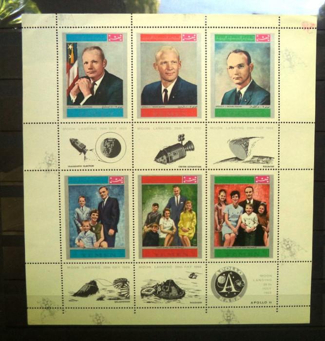 YEMEN 1969 -  COSMOS. ASTRONAUTI, BLOC NESTAMPILAT, R23