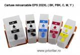 Cumpara ieftin SET 5 cartuse reincarcabile pt EPSON 202XL autoresetabile T02G7 multipack Epson...