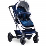 Carucior Transformabil 3 in 1, S 500 cu Cos Auto Inclus Dark Blue Flowers