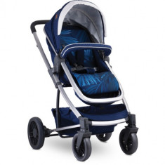 Carucior Transformabil 3 in 1, S 500 cu Cos Auto Inclus Dark Blue Flowers foto