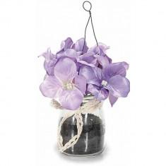 Viorele in vaza mov