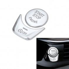 Capac Buton Start-Stop/Auto Hold Compatibil Bmw Seria 7 F02 2008-2015 Aluminiu