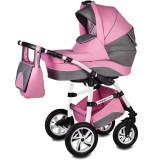 Cumpara ieftin Carucior Flamingo Easy Drive 3 in 1 Vessanti, suporta 10 kg, 0 luni+, Pink