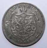 5 LEI 1880 DOMN .  DETALII FRUMOASE .