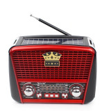 Radio portabil, Solar, MP3 player, FM/ AM/ SW3, USB, Card SD/ TF