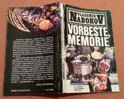 Vorbeste, Memorie o autobiografie rescrisa - Vladimir Nabokov foto