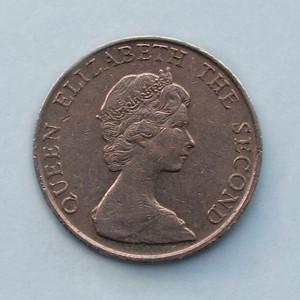 HONG  KONG  -  5 Dollars 1980