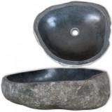 Chiuvetă din piatră de râu, 38-45 cm, ovală, vidaXL