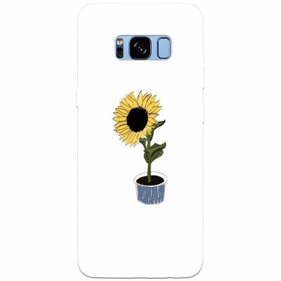 Husa silicon pentru Samsung S8, Sun Flower foto
