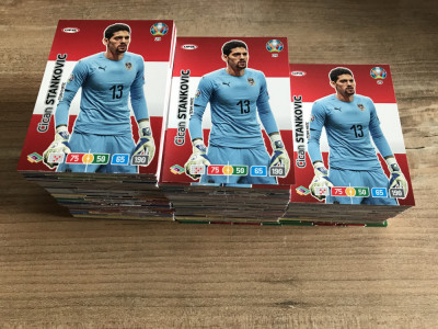 Panini Euro 2020 Adrenalyn XL Set 100 carduri Team Mates diferite foto