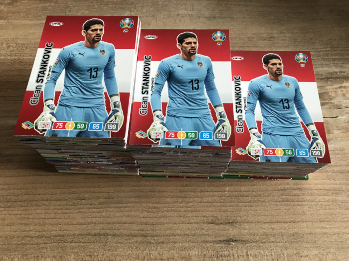 Panini Euro 2020 Adrenalyn XL Set 100 carduri Team Mates diferite