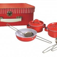 Set de joaca oale metalice rosii in valiza Egmont