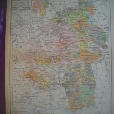 HOPCT DOCUMENT-HARTA VECHE NR 54 WURTTEMBERG 1789  -D=320/250 MM LEIPZIG 1918