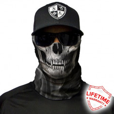 Bandana/Face Shield/Cagula/Esarfa - Skull Tech | Crow, made in USA