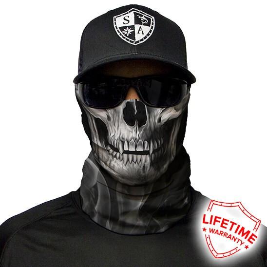 Bandana/Face Shield/Cagula/Esarfa - Skull Tech | Crow, made in USA
