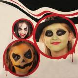 Kit vopsea fata si corp, Halloween Kid, 5 culori, sange fals, PaintGlow