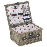 Cos de picnic din rachita Beige 2 persoane 33 cm x 18 cm