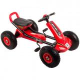 Kart cu pedale si roti gonflabile Driver Kidscare Rosu