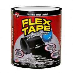 Banda adeziva Flex Tape, latime 4 inch, negru
