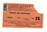 BILET  CINEMA CORSO ORADEA CU TIMBRU LOCAL 1 LEU ASISTENTA SOCIALA AVIATIE 1919