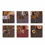 Cumpara ieftin Set suport pahare, 6 bucati, model Coffee , Pufo