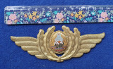Insigna Militara Ofiter AVIATIE PILOT - COMANDOR - Coifura insemn cascheta 1970